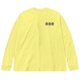 ドット薬ゴリくん Big silhouette long sleeve T-shirts