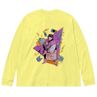 ライアンGaming show Tシャツ Big silhouette long sleeve T-shirts