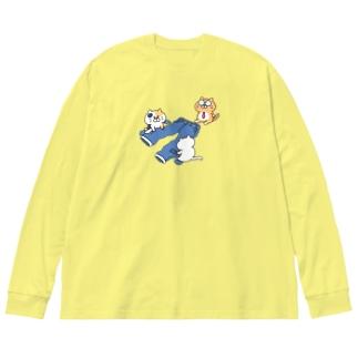 ダメージジーンズ工房(ニャンコ支店) Big silhouette long sleeve T-shirts