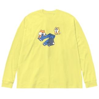 ダメージジーンズ工房(柴犬支店) Big Long Sleeve T-shirt