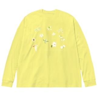 西表島の白い花(11種)高さおさえめ Big Silhouette Long Sleeve T-Shirt