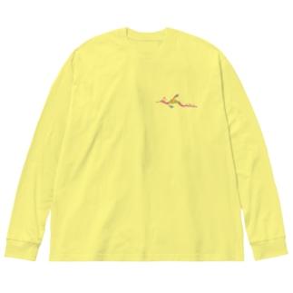 うぃーでぃ Big silhouette long sleeve T-shirts