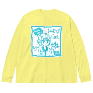 GAME ON! 【SWEET LIGHTBLUE】 Big silhouette long sleeve T-shirts