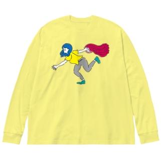 レギンス一丁 Big silhouette long sleeve T-shirts