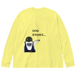 GOD KNOWS... Big Silhouette Long Sleeve T-Shirt