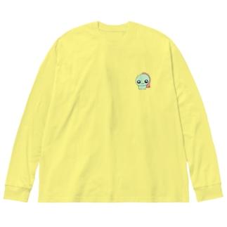 きゅりあんず ぽっぷ Big silhouette long sleeve T-shirts