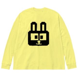 ウサギ Big silhouette long sleeve T-shirts