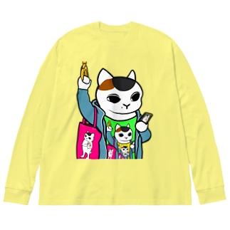 ドロステの猫 Big Silhouette Long Sleeve T-Shirt