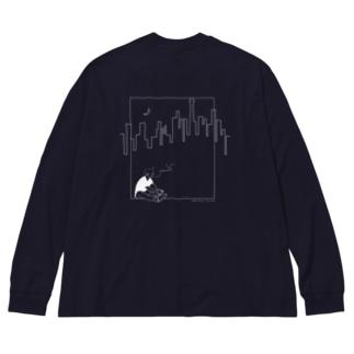 アンダーグラウンド裏 Big silhouette long sleeve T-shirts