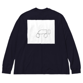 おそらく車(大型) Big silhouette long sleeve T-shirts