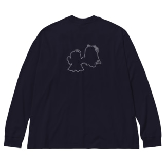 天使と悪魔シリーズ Big silhouette long sleeve T-shirts