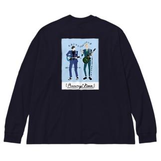 よしもと芸人オフィシャルショップのzakkaYOSHIMOTO ラニーノーズ Big silhouette long sleeve T-shirts