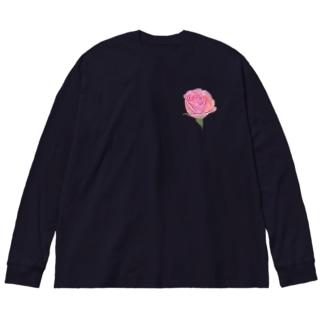 バラ Big Silhouette Long Sleeve T-Shirt