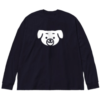 Dog Big silhouette long sleeve T-shirts