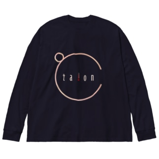 ℃-taion- Big silhouette long sleeve T-shirts