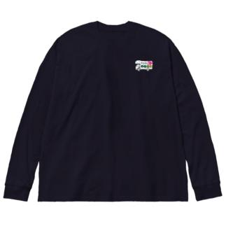 ガタgo グッズ Big silhouette long sleeve T-shirts