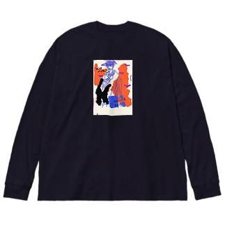 winter Big silhouette long sleeve T-shirts