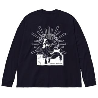 <濃い色推奨>お願い!ガネーシャ様 Big silhouette long sleeve T-shirts
