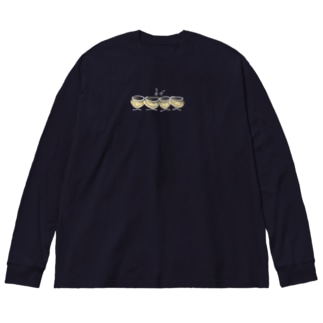 パウケン ティンパニ カラー Pauken Timpani Color Big silhouette long sleeve T-shirts