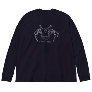 spider head(スパイダーヘッド) Big silhouette long sleeve T-shirts
