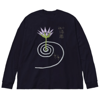 渦巻 (透過) Big silhouette long sleeve T-shirts