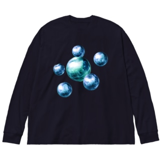 多元宇宙 Big silhouette long sleeve T-shirts
