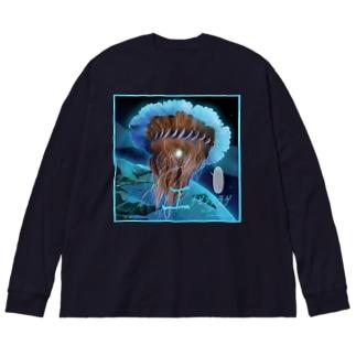 エチゼンクラゲ Big silhouette long sleeve T-shirts