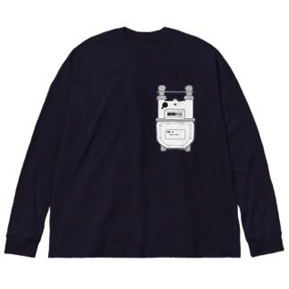 ワンポイントガスメーター Big silhouette long sleeve T-shirts