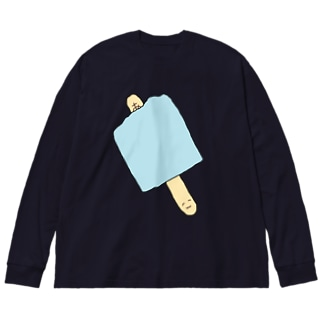 幸運のわたくし Big silhouette long sleeve T-shirts