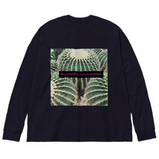 過酷な環境に打ち勝て! Big silhouette long sleeve T-shirts