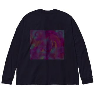 嫉妬? Big silhouette long sleeve T-shirts