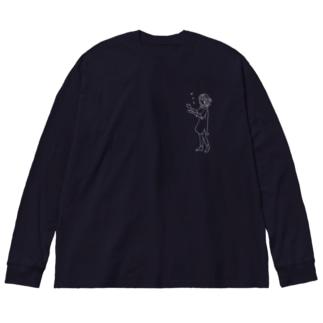 sukiに出会った時 Big silhouette long sleeve T-shirts