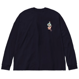 ネコノコシカケのイソメ Big silhouette long sleeve T-shirts