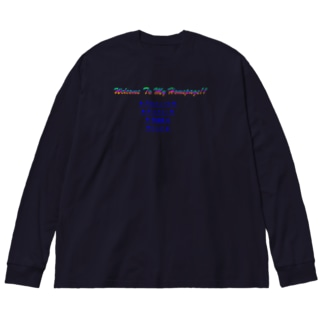 Welco To My Homepage!!002 Big silhouette long sleeve T-shirts