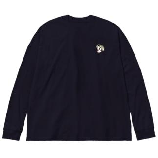 赤鼻の女の子 Big silhouette long sleeve T-shirts