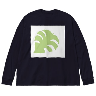 多肉damono🇯🇵のモンステラ Big silhouette long sleeve T-shirts