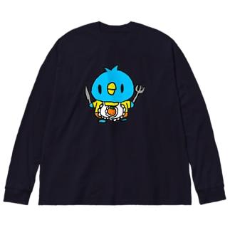 かよペン Big silhouette long sleeve T-shirts