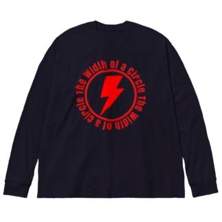 円軌道の幅 Big silhouette long sleeve T-shirts
