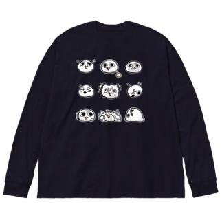モチゾー(9種) Big silhouette long sleeve T-shirts