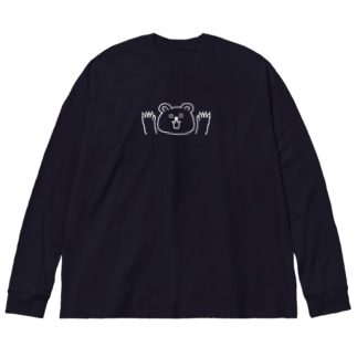 SurprisedKuma Big silhouette long sleeve T-shirts