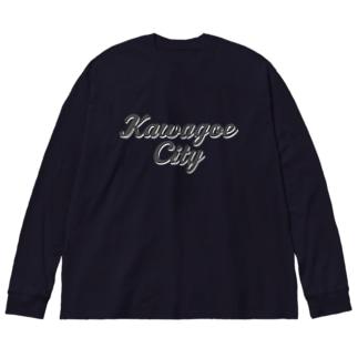 KAWAGOE CITY Big silhouette long sleeve T-shirts