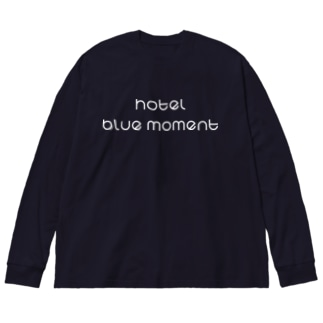 Hotel Blue Moment ホワイトver. Big silhouette long sleeve T-shirts