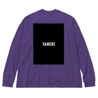 YAMERE(ブラック) Big silhouette long sleeve T-shirts
