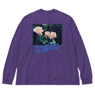 no matter... Big silhouette long sleeve T-shirts