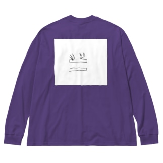 おそらく植物(プランター) Big silhouette long sleeve T-shirts