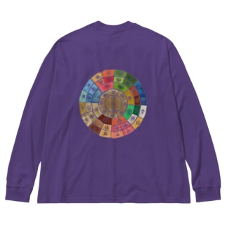 五元素フトマニ Big silhouette long sleeve T-shirts