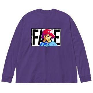 凶のハンドサイン 80's Big silhouette long sleeve T-shirts