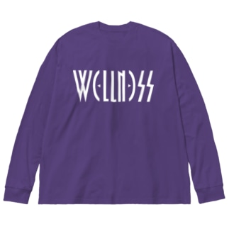 ウェルネス Big silhouette long sleeve T-shirts