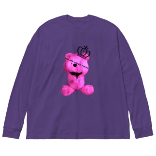 Royal Teddy  RASPBERRY Big silhouette long sleeve T-shirts