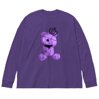Royal Teddy  BLUEBERRY Big silhouette long sleeve T-shirts